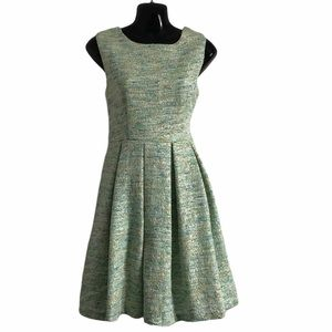 ANTHROPOLOGIE PAPER CROWN  fit flare dress sage